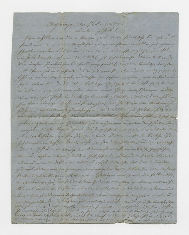 Schweitzer family letter, July 28, 1875