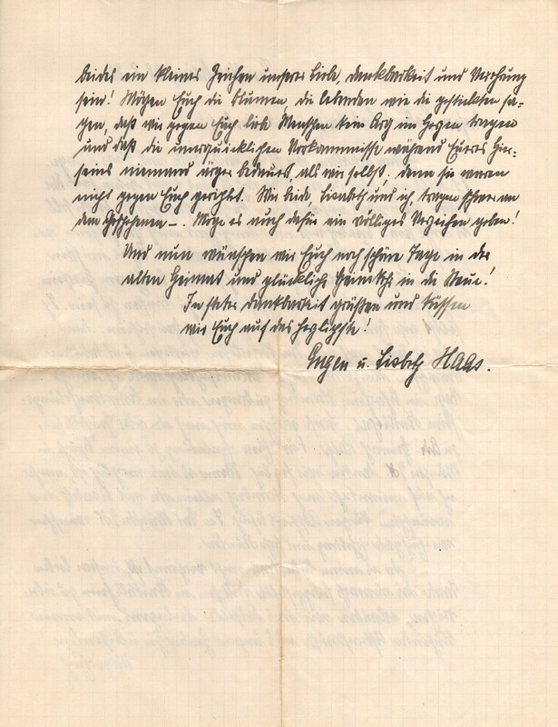 Eugen and Lisbeth Haas to Eugen Klee, August 28, 1921, p. 2