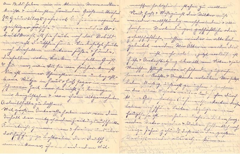 Lenchen Berdel to Eugen Klee, November 22, 1919, p. 6 and p. 7