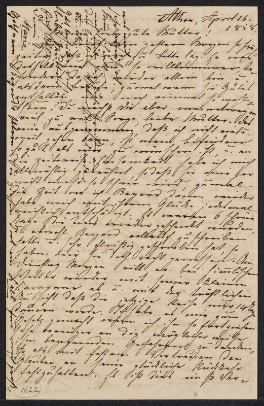 Marie Hansen Taylor to Lina Hansen, April 16, 1858