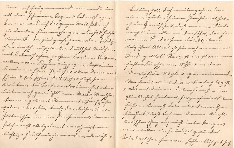 Lenchen Berdel to Eugen Klee, August 6, 1919, p. 10 and p. 11