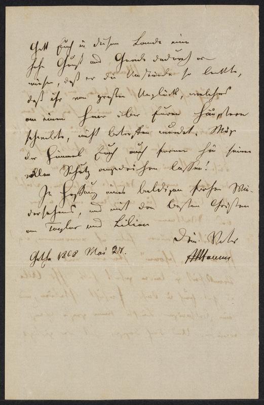 Peter Hansen to Marie Hansen Taylor, May 27, 1868, p. 2