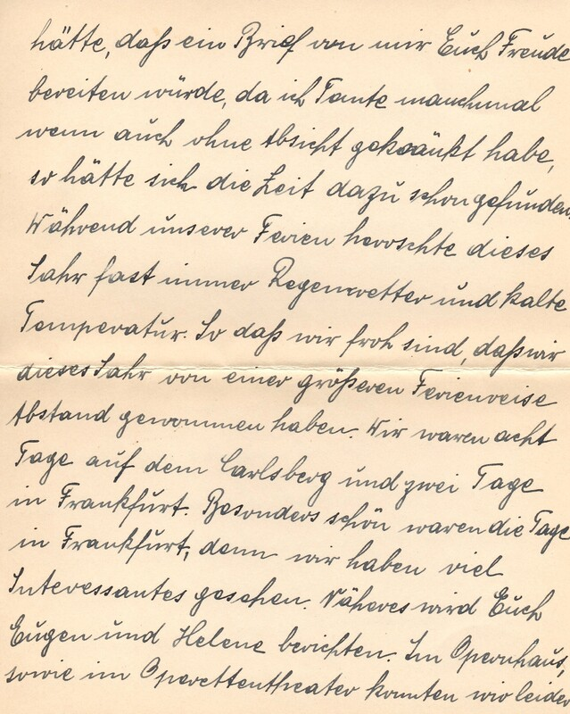 Eugen and Lisbeth Haas to Eugen Klee, October 6, 1924, p. 2