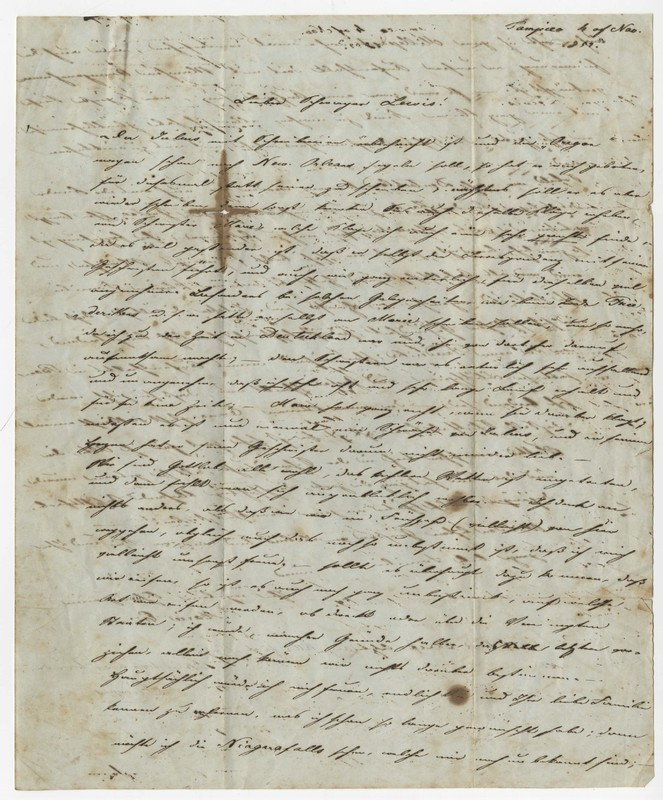 Marie Eversmann to Lewis Eversmann, November 4, 1852