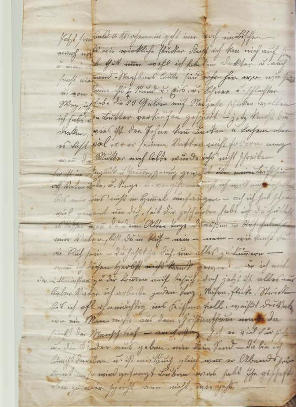Dorothea Schuhmacher to Gottfried Handel, January 25, 1870