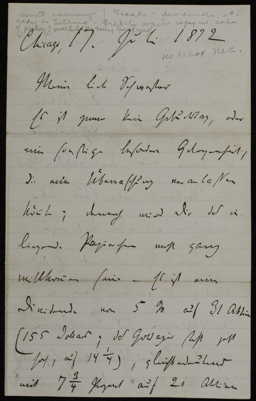 Hermann Raster to Sophie Raster, July 17, 1872