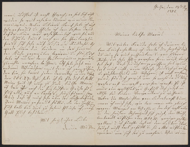 Lina Hansen to Marie Taylor, September 14, 1872