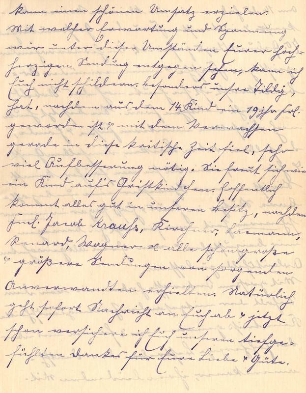 Lenchen Berdel to Eugen Klee, November 22, 1919, p. 5