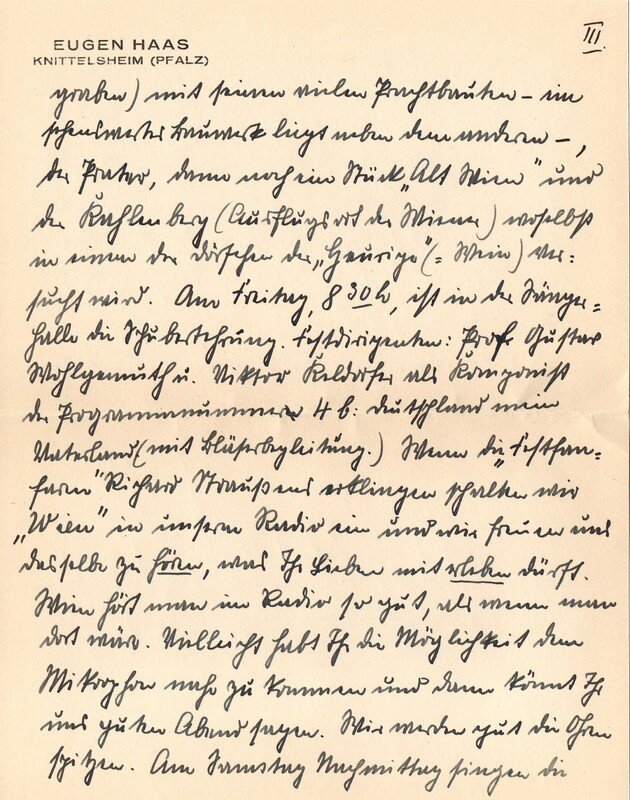 Eugen and Lisbeth Haas to Eugen Klee, July 17, 1928, p. 5