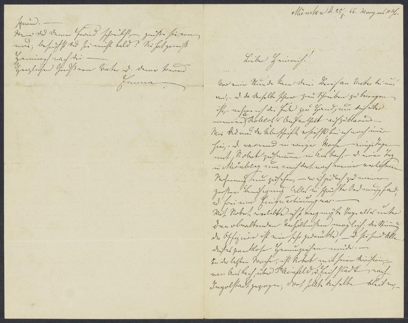 Emma von Xylander to Henry Villard, August 25, 1866