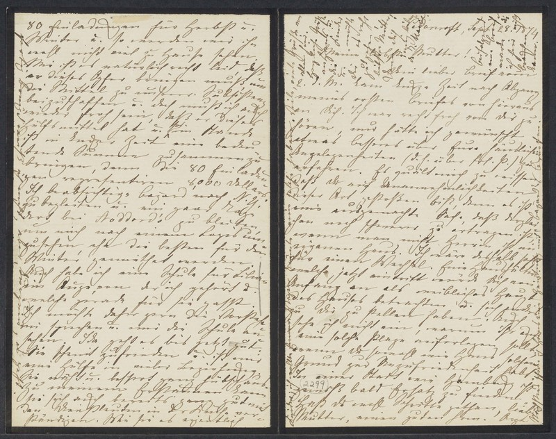 Marie Taylor to Lina Hansen, September 28, 1874