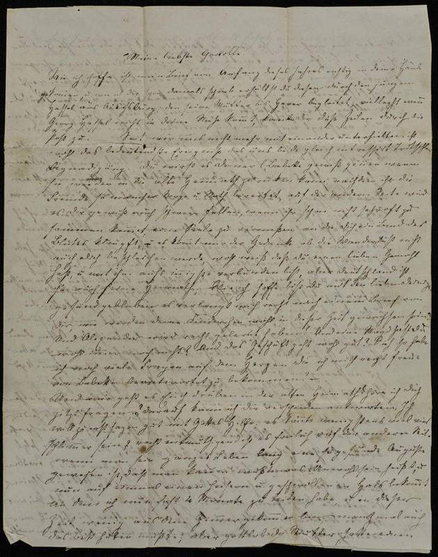 Letter to Charlotte Fischer von Höfeln, April 24, 1857