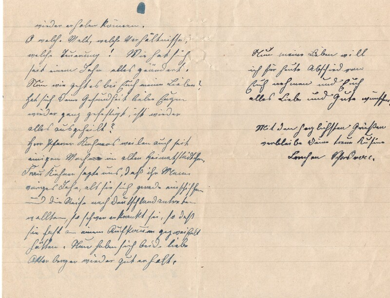 Lenchen Cherdron to Eugen Klee, July 14, 1922, p. 10 and p. 11