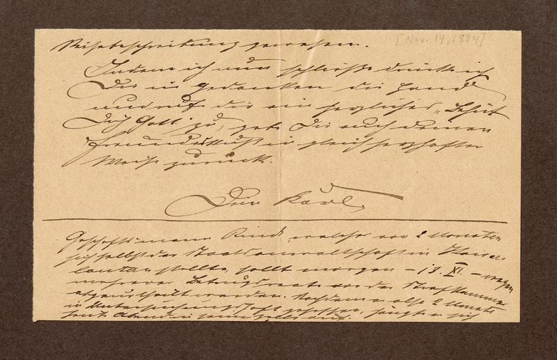 Klee family letter, November 14, 1894
