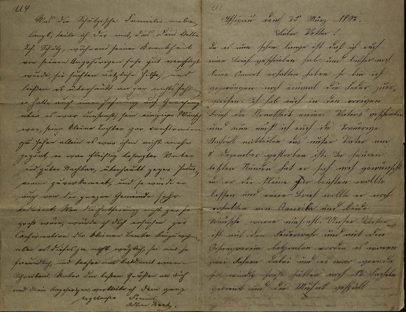 Schulz family letter, March 25, 1892