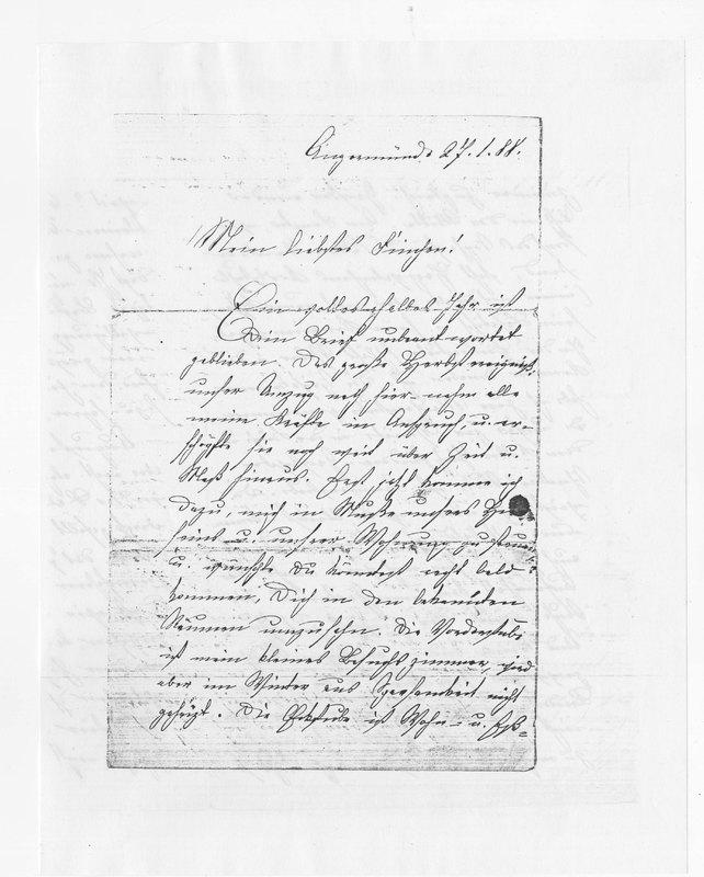 Frieda Amerlan to Josephine Benecke, January 17, 1888