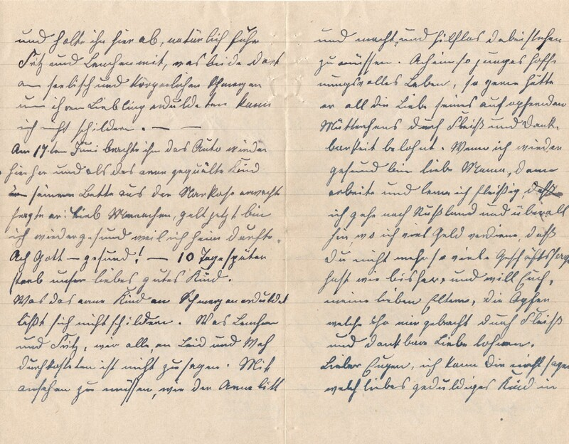 Lenchen Cherdron to Eugen Klee, July 14, 1922, p. 6 and p. 7