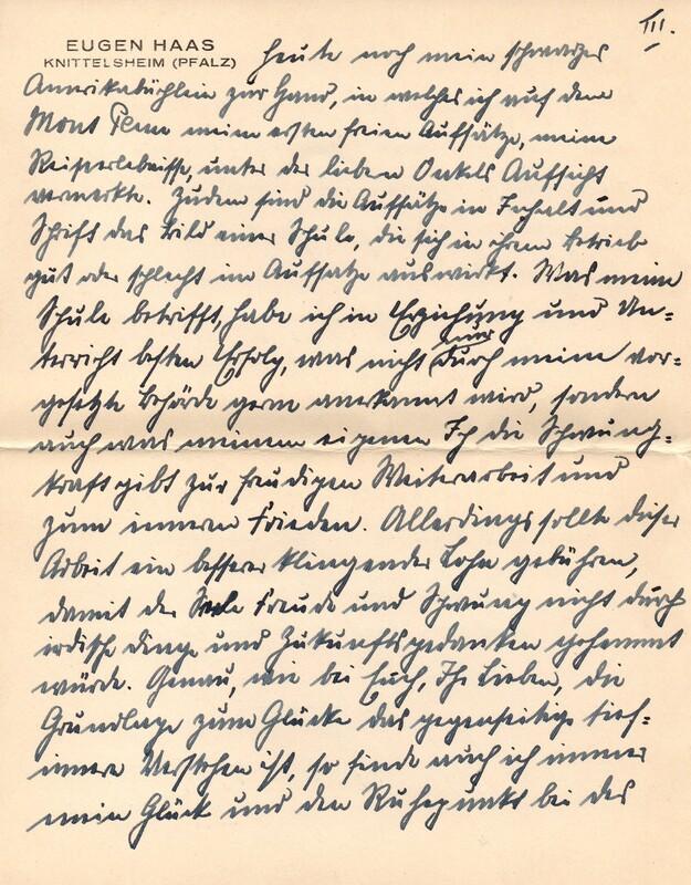 Eugen and Lisbeth Haas to Eugen Klee, April 3, 1927, p. 5