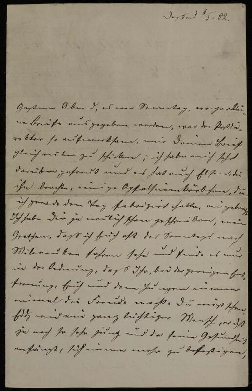 Anna Oppenheim to Margarethe Raster and Hermann Raster, March 6, 1882