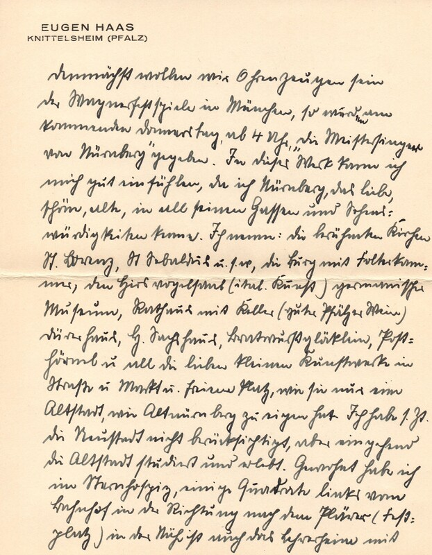 Eugen and Lisbeth Haas to Eugen Klee, July 23, 1928, p. 5