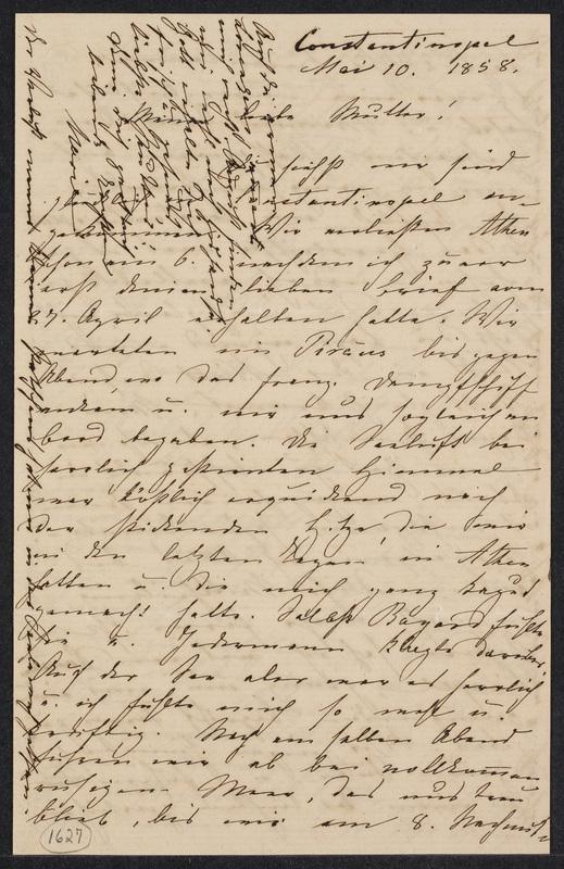 Marie Hansen Taylor to Lina Hansen, May 10, 1858