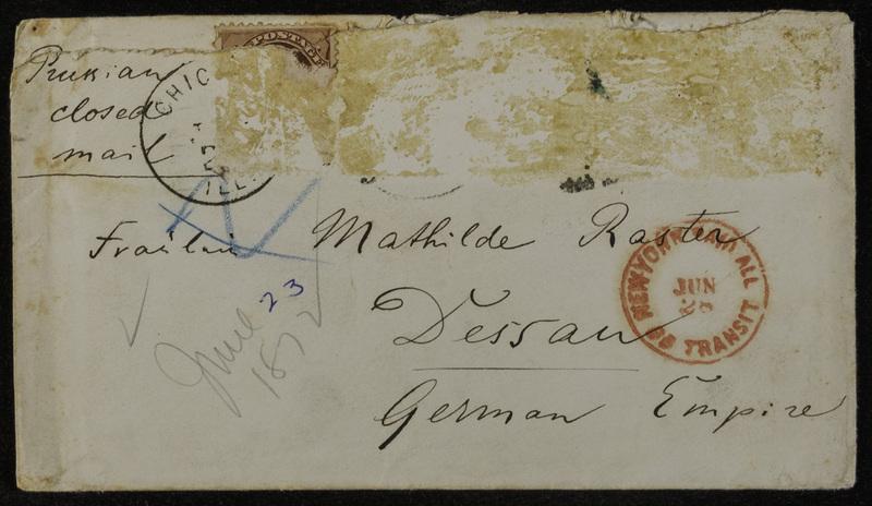 Hermann Raster to Mathilde Raster, June 23, 1872