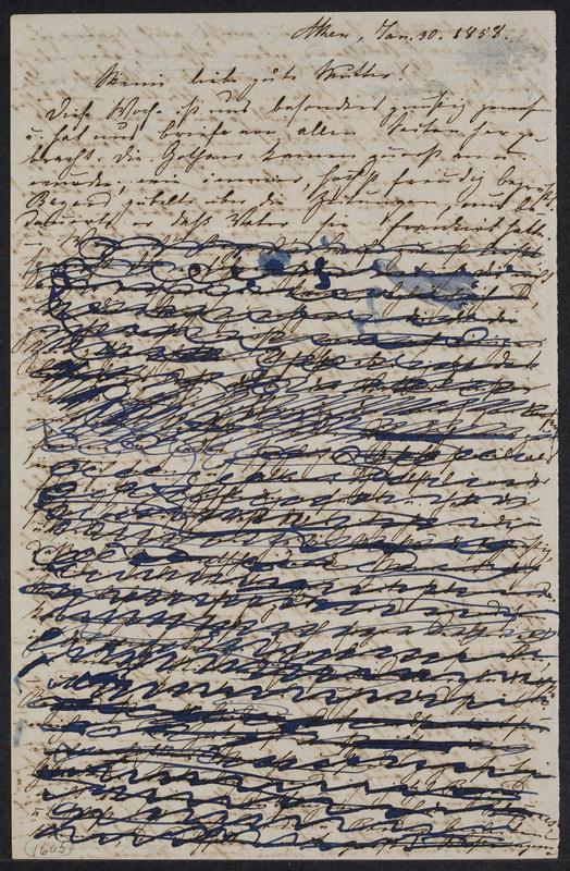 Marie Hansen Taylor to Lina Hansen, January 30, 1858