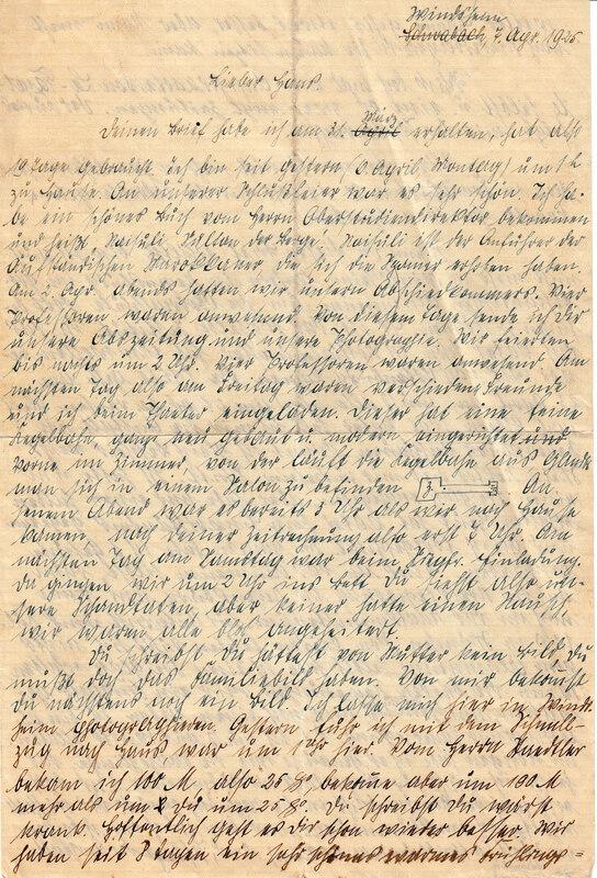 Philipp Weinhardt to John V. Weinhardt, April 7, 1925