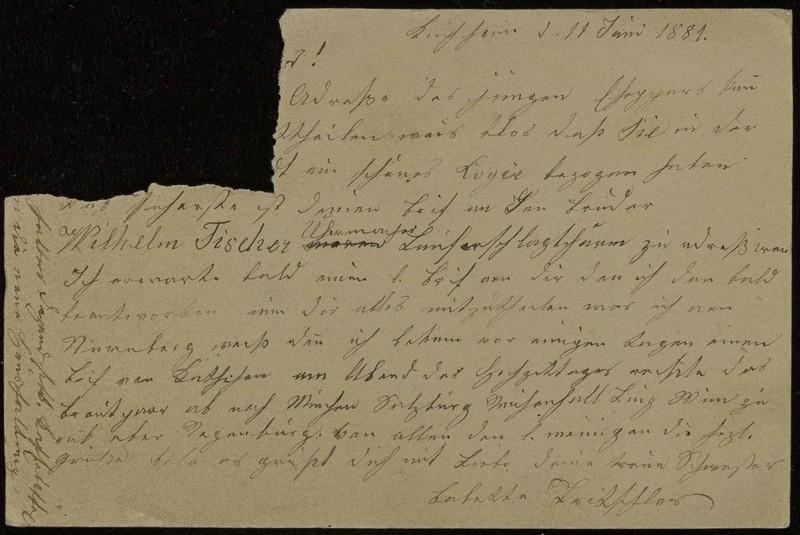 Babette Tritschler to Charlotte von Höfeln, June 11, 1881