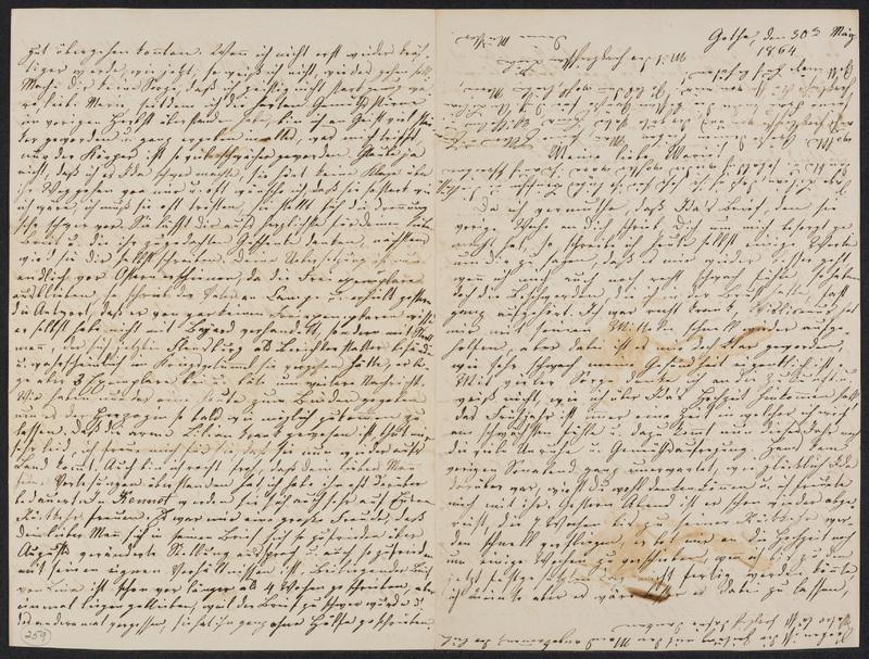Lina Hansen to Marie Hansen Taylor, March 30, 1864