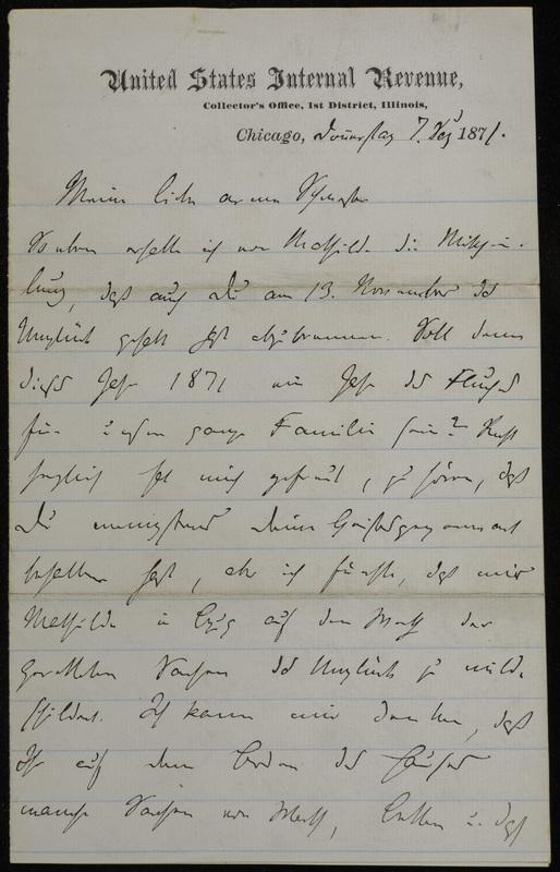 Hermann Raster to Sophie Raster, December 7, 1871