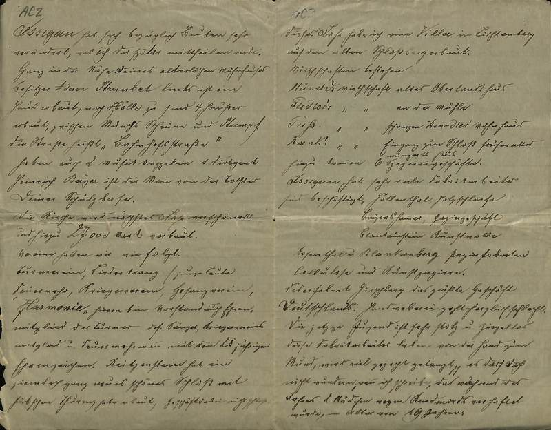 Schulz family letter, November 27, 1901, page 2 [left-hand] and page 3 [right-hand]