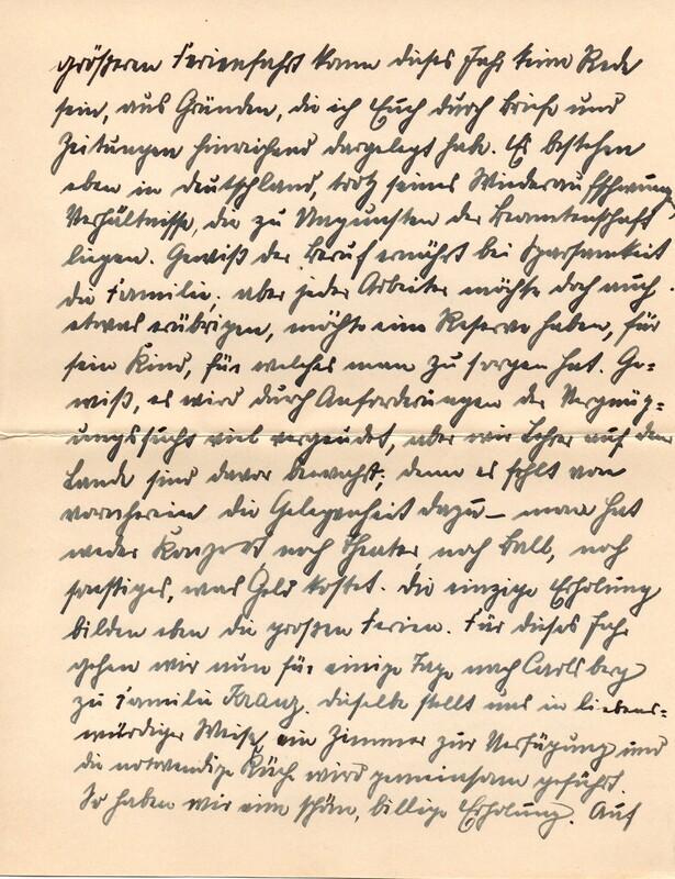 Eugen and Lisbeth Haas to Eugen Klee, April 3, 1927, p. 2