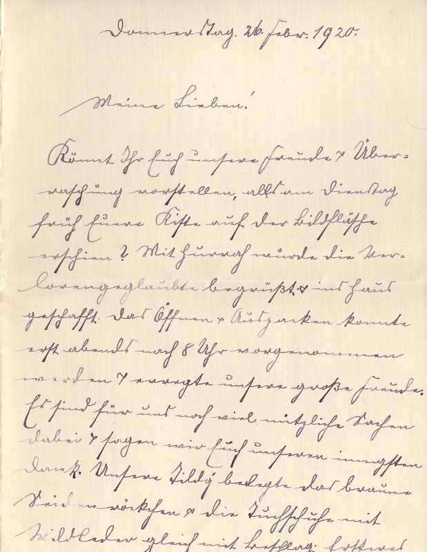 Lenchen Berdel to Eugen Klee, February 26, 1920