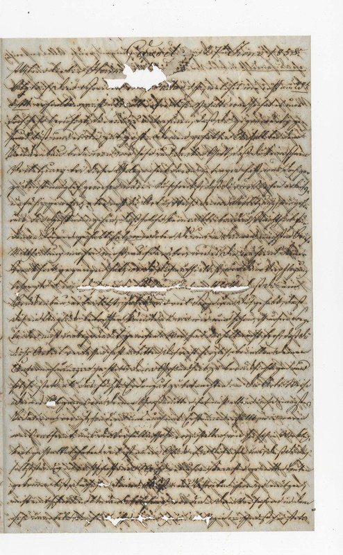 Heinrich and Clotilde Crede to Hermann Crede, June 27, 1858