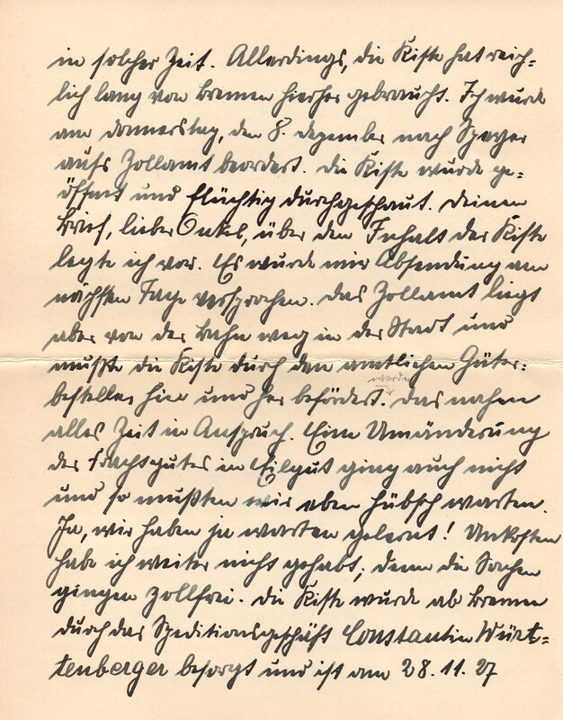 Eugen and Lisbeth Haas to Eugen Klee, December 15, 1927, p. 4