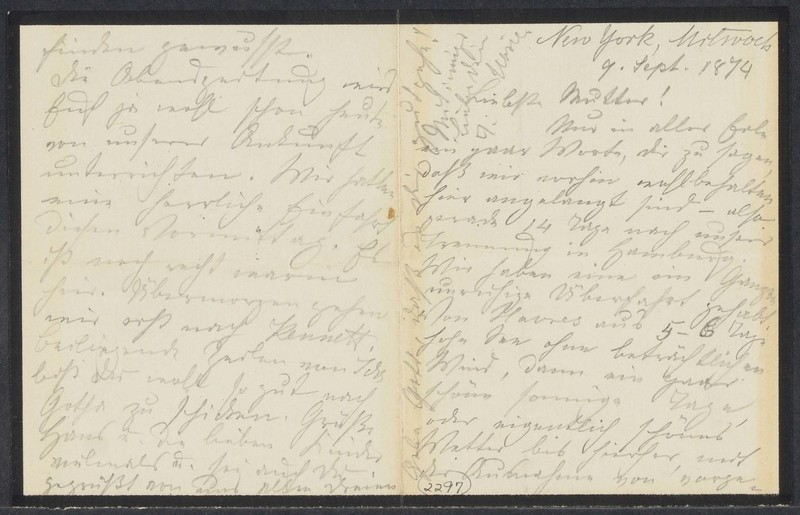 Marie Taylor to Lina Hansen, September 9, 1874