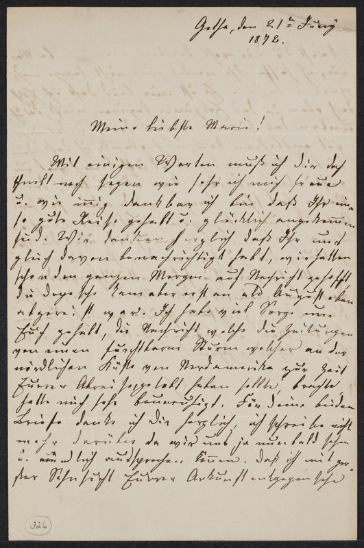 Lina Hansen to Marie Taylor, June 21, 1872