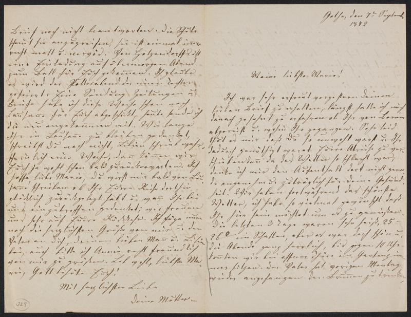 Lina Hansen to Marie Taylor, September 7, 1872