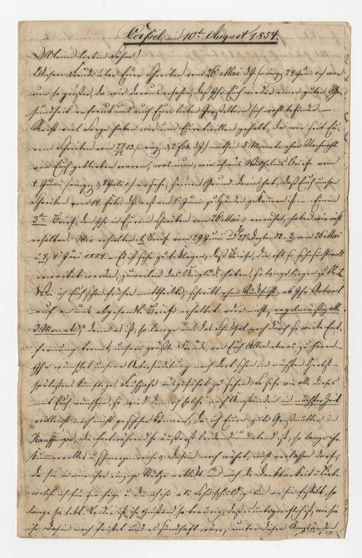 Crede family letter, August 10, 1854