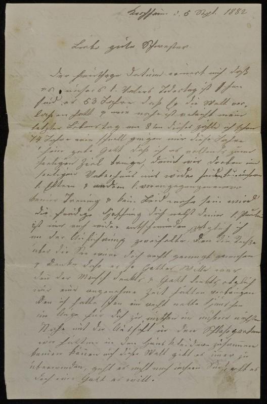 Babette Tritschler to Charlotte von Höfeln, September 5, 1882