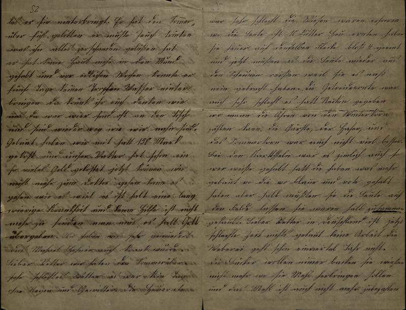Schulz family letter, Nov. 10, 1891, page 2 [left-hand] and page 3 [right-hand]