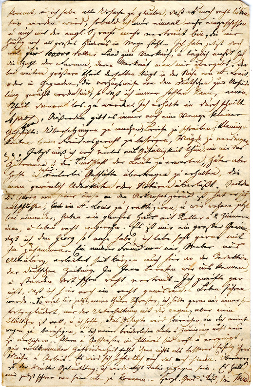 Theodor Engelmann to Margarethe Hilgard, January 20, 1836, p. 4
