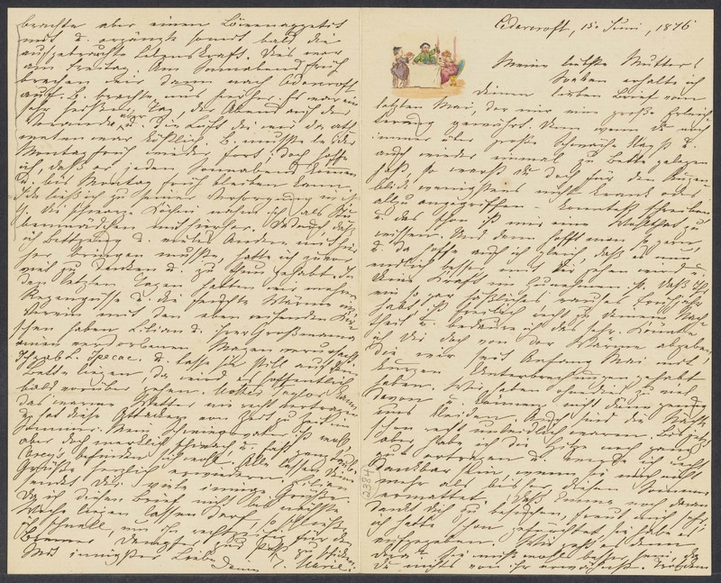 Marie Taylor to Lina Hansen, June 15, 1876