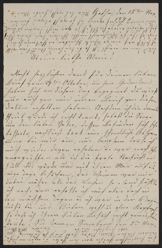 Lina Hansen to Marie Taylor, November 15, 1870
