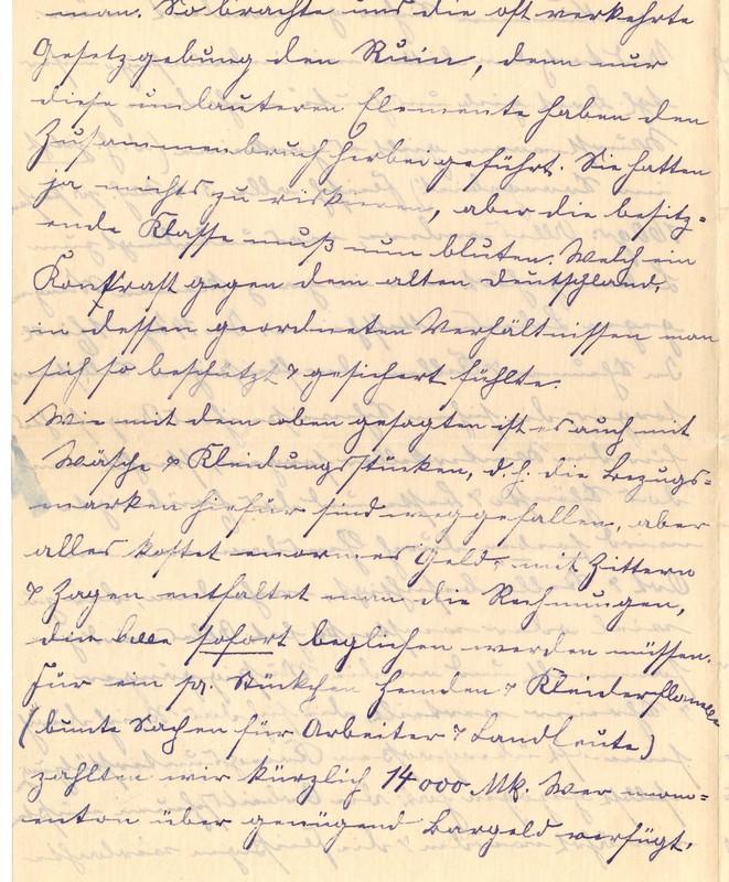 Lenchen Berdel to Eugen Klee, November 22, 1919, p. 4