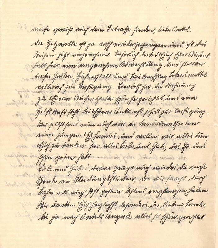 Eugen and Lisbeth Haas to Eugen Klee, July 25, 1925, p. 2