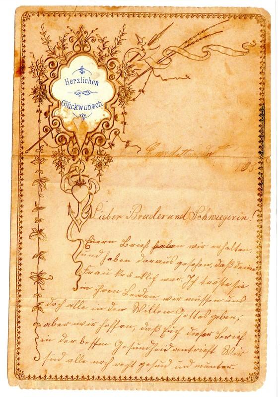Hermann Kamp to Bernard Kamp, 1883