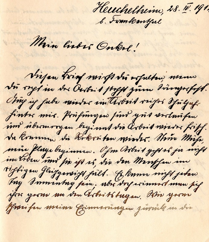 Eugen Haas to Eugen Klee, April 28, 1912, page 1