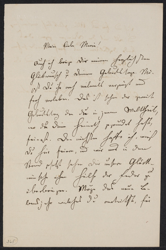 Peter Hansen to Marie Hansen Taylor, March 12, 1860, p. 1